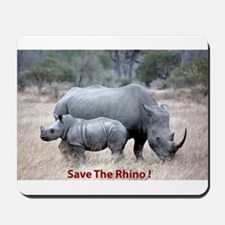 Save The Rhino Mousepad