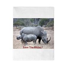 Save The Rhino Twin Duvet