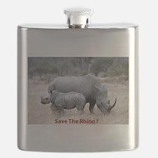 Save The Rhino Flask