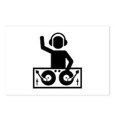 DJ vinyl Postcards (Package of 8)
