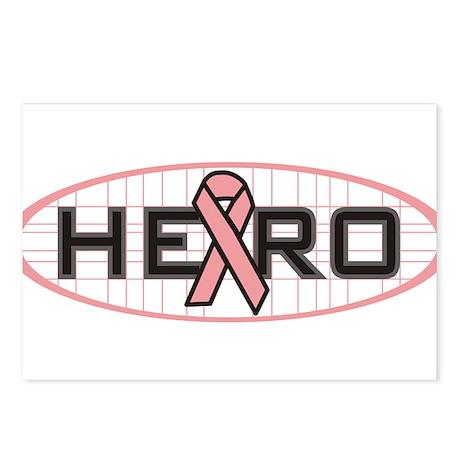 Hero Pink Ribbon Postcards (Package of 8)
