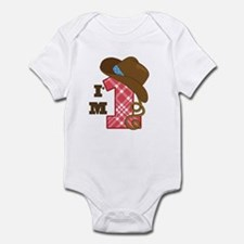 1 Year Old Cowboy Infant Bodysuit