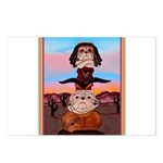 Bulldog Totem Pole Postcards (Package of 8)