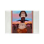 Bulldog Totem Pole Rectangle Magnet (100 pack)