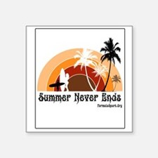 """Summer Never Ends Square Sticker 3"""" x 3"""""""