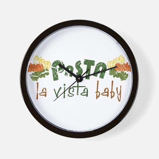 Pasta La Vista Wall Clock