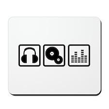 DJ Equalizer headphones vinyl Mousepad