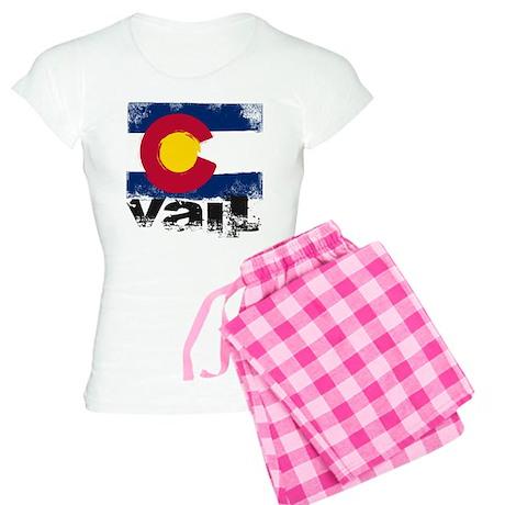 Vail Grunge Flag Women's Light Pajamas