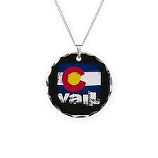 Vail Grunge Flag Necklace