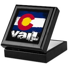 Vail Grunge Flag Keepsake Box