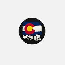 Vail Grunge Flag Mini Button
