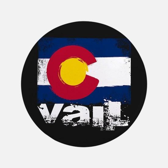 """Vail Grunge Flag 3.5"""" Button"""
