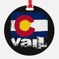 Vail Grunge Flag Ornament