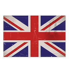 antiqued UK flag Postcards (Package of 8)