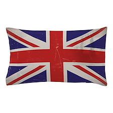 antiqued UK flag Pillow Case