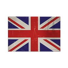antiqued UK flag Magnets