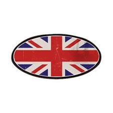 antiqued UK flag Patches