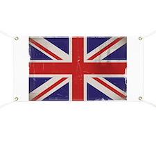 antiqued UK flag Banner