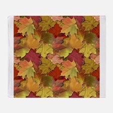 Fall Leaves Throw Blanket