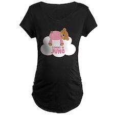 Baby Girl Coming In June Maternity T-Shirt
