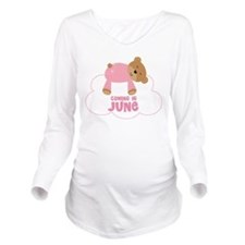 Baby Girl Coming In June Long Sleeve Maternity T-S