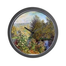 Corner of the Garden at Montgeron Wall Clock