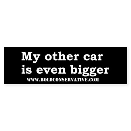 Other car is bigger (Bl) b.sticker