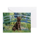 Bridge - Chocolate Lab 11.png Greeting Cards