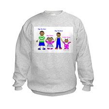 Black Big Brother / Little Sister Sweatshirt