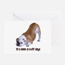 Bulldog Ruff Day Greeting Cards (Pk of 10)
