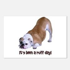 Bulldog Ruff Day Postcards (Package of 8)