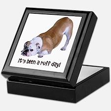 Bulldog Ruff Day Keepsake Box