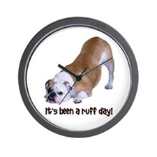 Bulldog Ruff Day Wall Clock