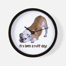 Bulldog Ruff Day Wall Clock
