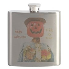 MR. PUMPKIN DEPOT. TRICK OR TREAT. Flask