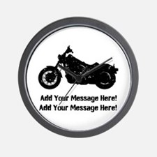 Personalize It, Motorcycle Wall Clock