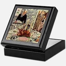 Vintage Thanksgiving Dinner Keepsake Box