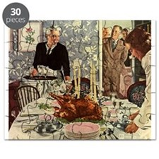 Vintage Thanksgiving Dinner Puzzle