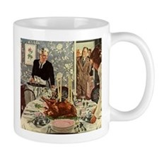Vintage Thanksgiving Dinner Mugs