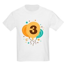 3rd Birthday Party Balloon T-Shirt