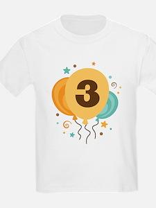 3rd Birthday Party Balloon T-Shirt