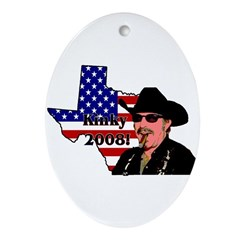 Get a REAL texan in the White House! Ornament (Ova