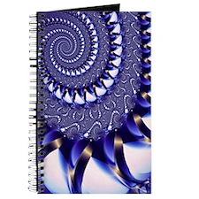 """""""Blue and White"""" Fractal Art Journal"""