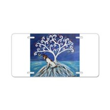 Jack Russell Terrier Tree Aluminum License Plate