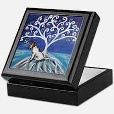 Jack Russell Terrier Tree Keepsake Box