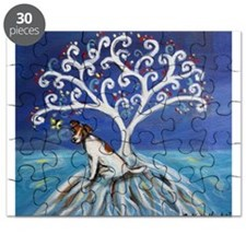 Jack Russell Terrier Tree Puzzle