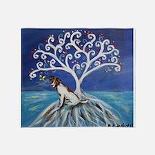 Jack Russell Terrier Tree Throw Blanket