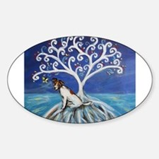 Jack Russell Terrier Tree Decal