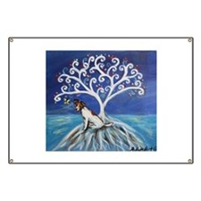 Jack Russell Terrier Tree Banner