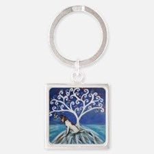 Jack Russell Terrier Tree Keychains